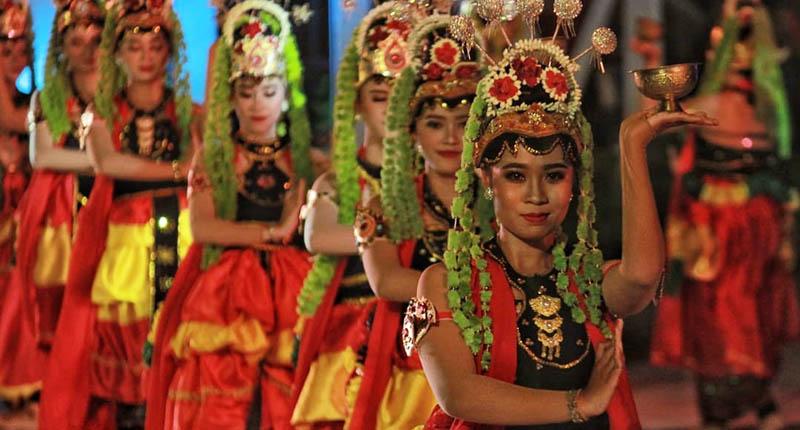 Tari Muang Sangkal Akan Sambut Kedatangan Presiden RI di Sumenep